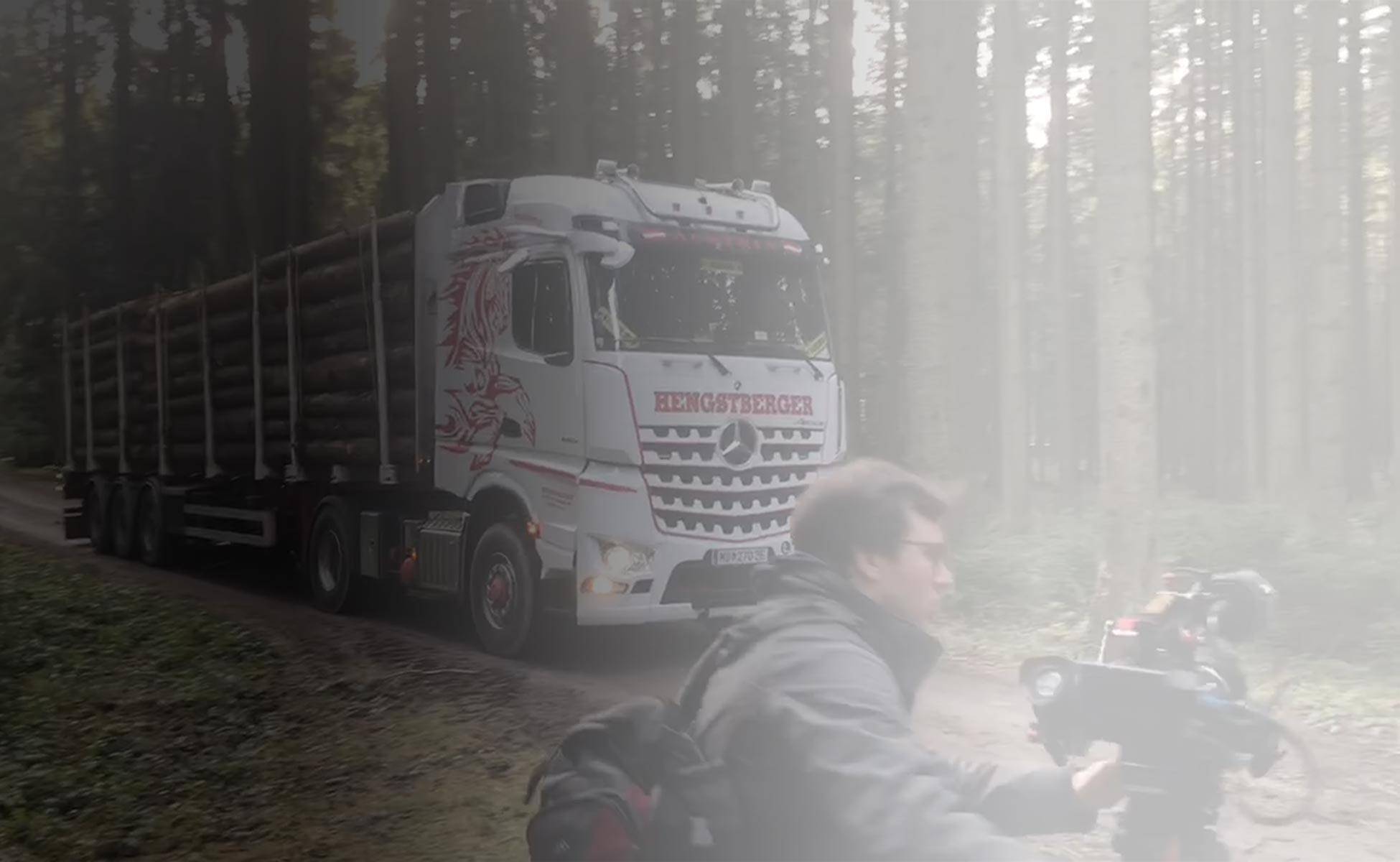 Hengstberger ORF Filmdreh Wald für Sendung Autofokus