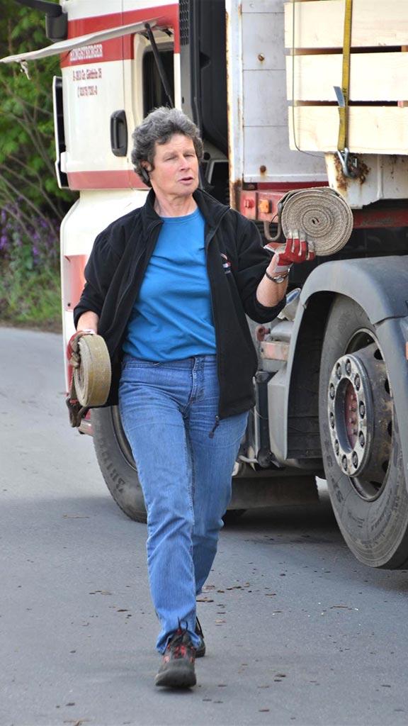 Hengstberger LKW-Fahrerin