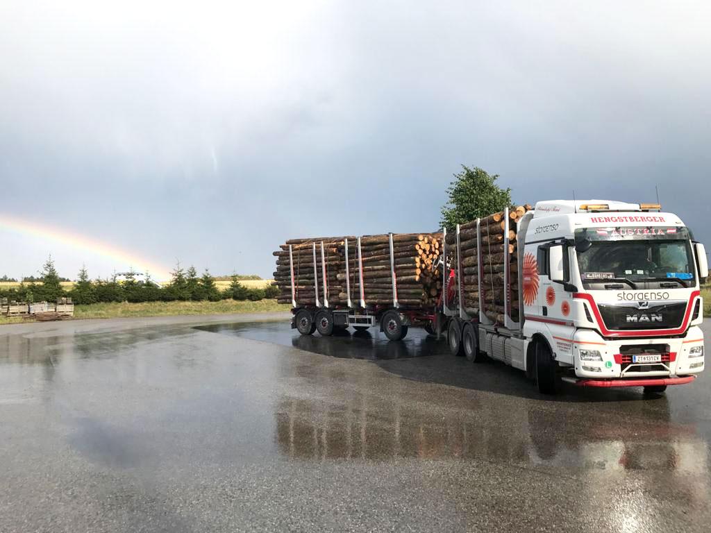 Hengstberger LKW Regenbogen