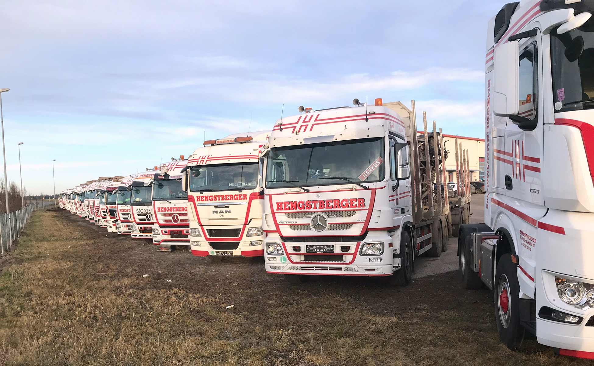 Hengstberger Flotte im Betriebsgelände